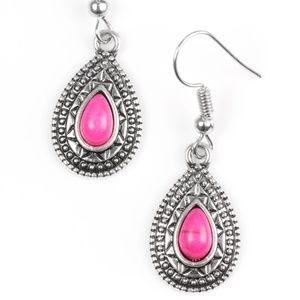 Blazing Beauty - Pink Earrings